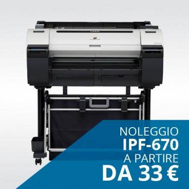 Noleggio Plotter Canon 670 da 33€